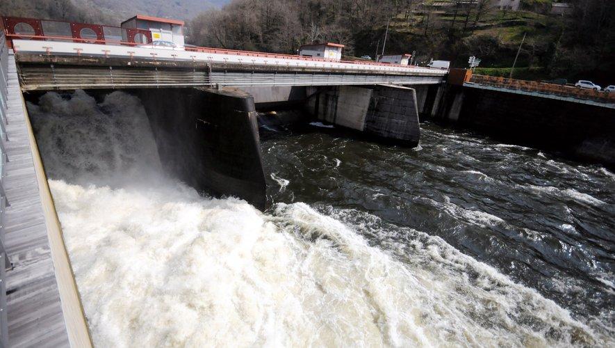 Les barrages aveyronnais ont tourné à plein régime en 2018.