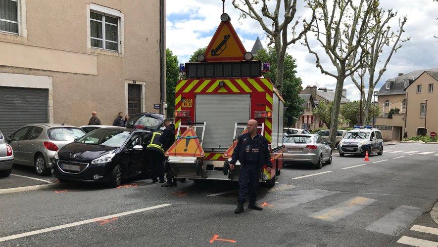 Les sapeurs-pompiers sont rapidement intervenus sur place, boulevard Flaugergues.