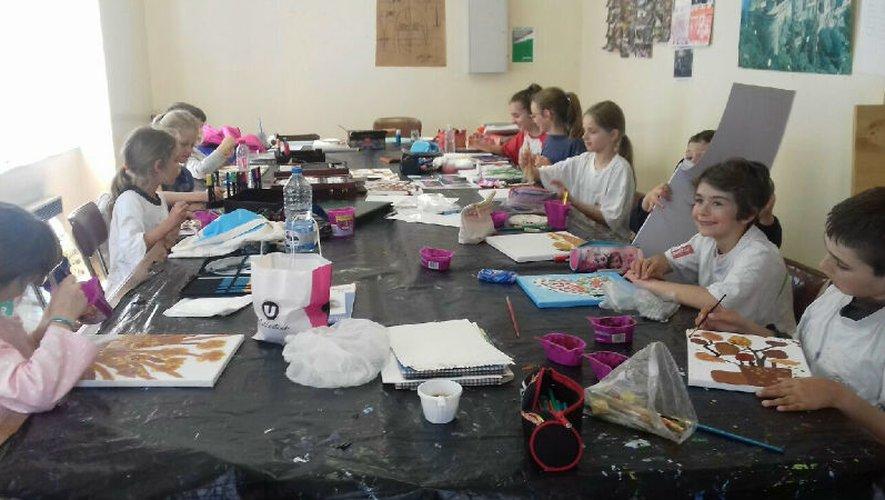 Journée peinture des enfants  et adolescents du club de peinture du Céor