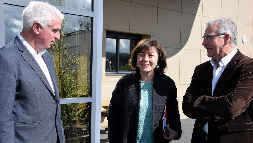 Carole Delga a profité de sa visite mercredi, pour saluer la réussite de l'Aubrac.