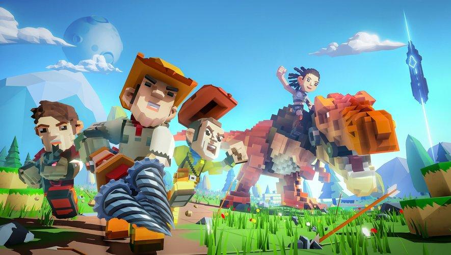"""""""PixARK"""" est un mélange de """"Minecraft et de """"Ark: Survival Evolved""""."""