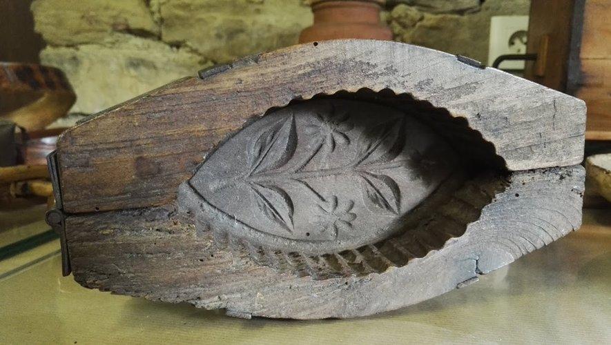 Moule à beurre traditionnel, l'une des très belles pièces présentée au musée de Saint-Clair-de-Verdun.