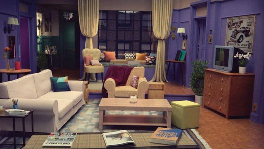 Le séjour de 'Friends' reproduit avec du mobilier du catalogue IKEA.