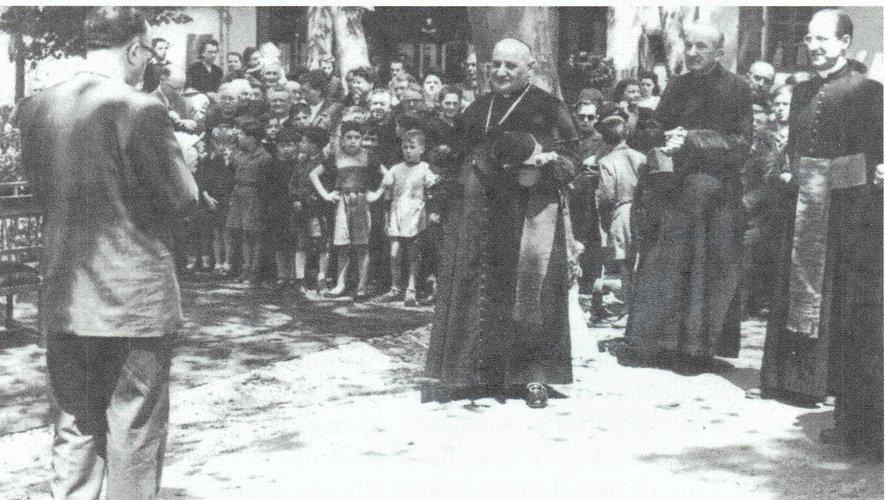 Discours du Docteur Feneyrou au futur Pape, à Entraygues.