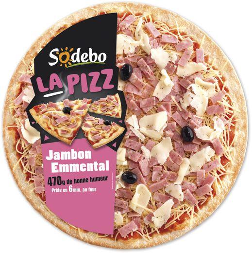 Sodebo, La Pizz, jamon emmental