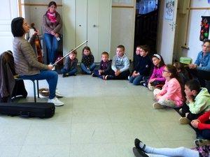 Les jeunes ont été passionnés par la découverte des multiples possibilités de l'instrument et de la retranscription des émotions en musique.