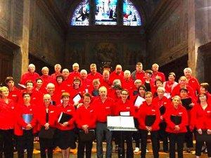 La chorale de Puycasquier dans le Gers.