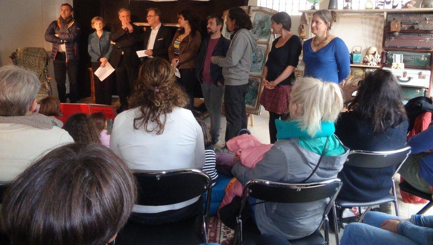De gauche à droite, les élus, Nathalie, Sébastien, Marco, Malika et Virginie