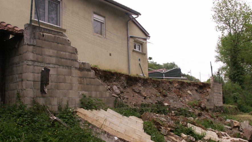 Le mur s'est effondré le 25 mars dernier.