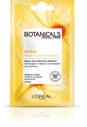 Le masque réparateur Botanicals Fresh Care Arnica par L'Oréal Paris - Prix : 2,90€ - Site : www.loreal-paris.fr.