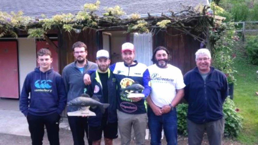 Le podium du 19e concours de pêche aux carnassiers