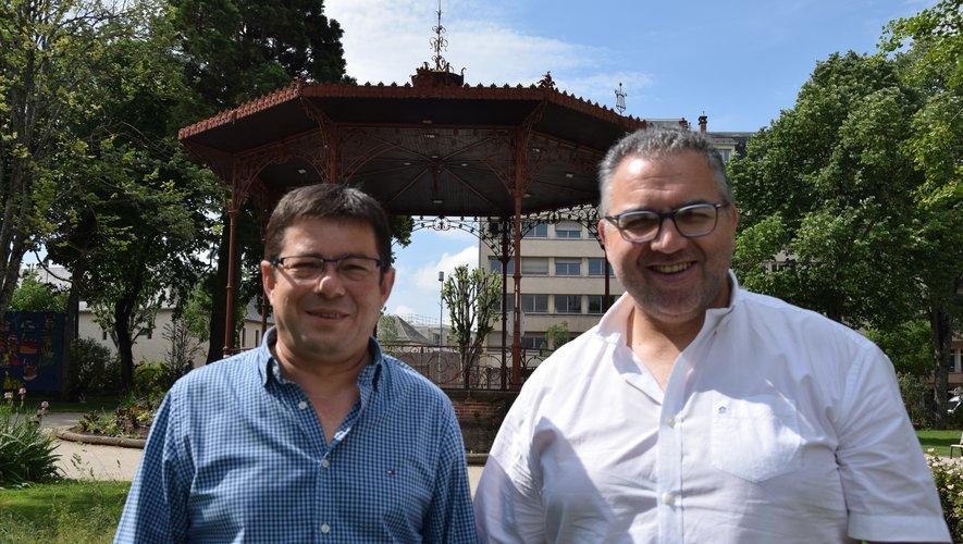 Georges Santos et Antonio Ferreira, de l'Association sportive culturelle portugaise ruthénoise.