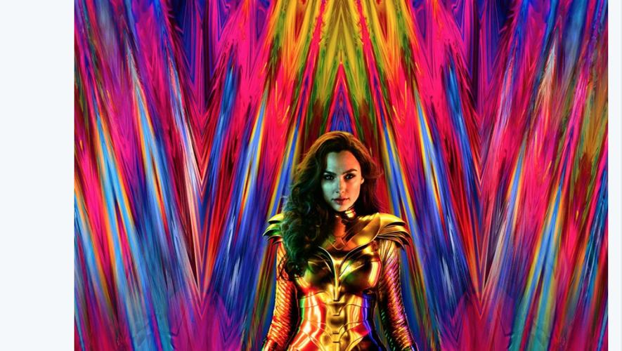 "Gal Gadot dans son nouveau costume pour ""Wonder Woman 1984"" qui ne sortira qu'en 2020."