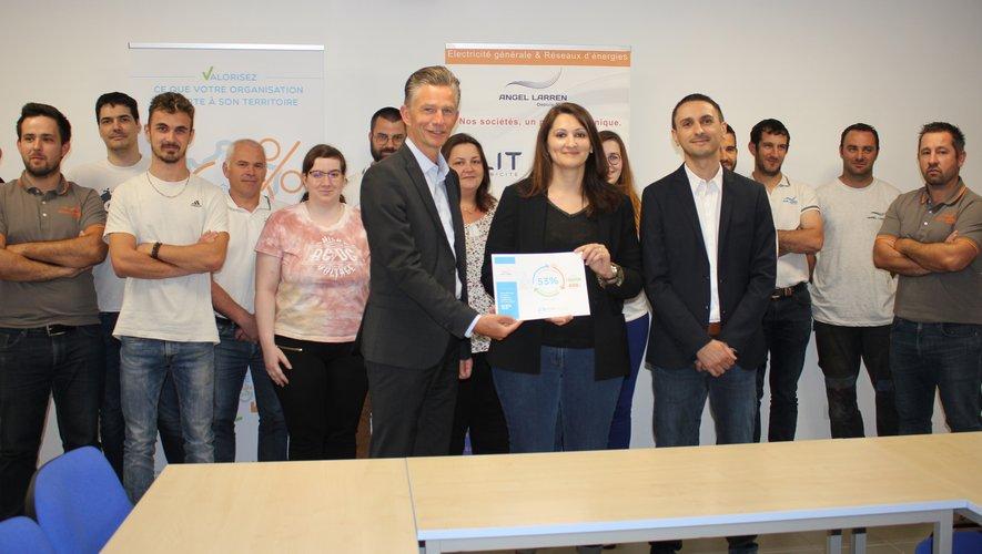 Dirigeants et salariés du groupe Larren ont reçu la certification Biom attitude.