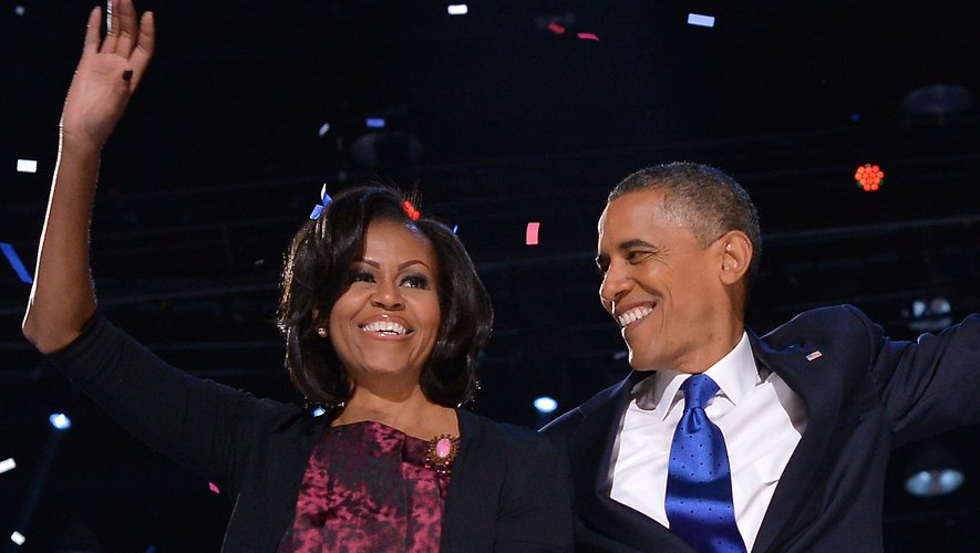 L'ancien couple présidentiel américain, Michelle et Barack Obama.