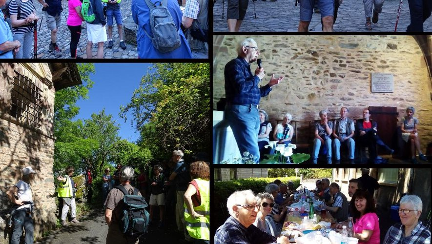 La randonnée « sur les pas de l'ermite Dadon » a comblé les attentes des participants.