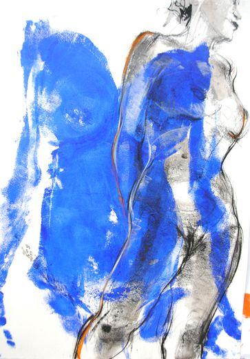 « Empreinte bleue 1 », de Patrick Laroche (60x75 cm).