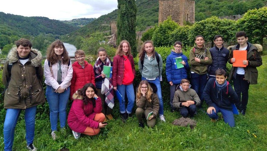 Les élèves étaient en visiteau château de Brousse.