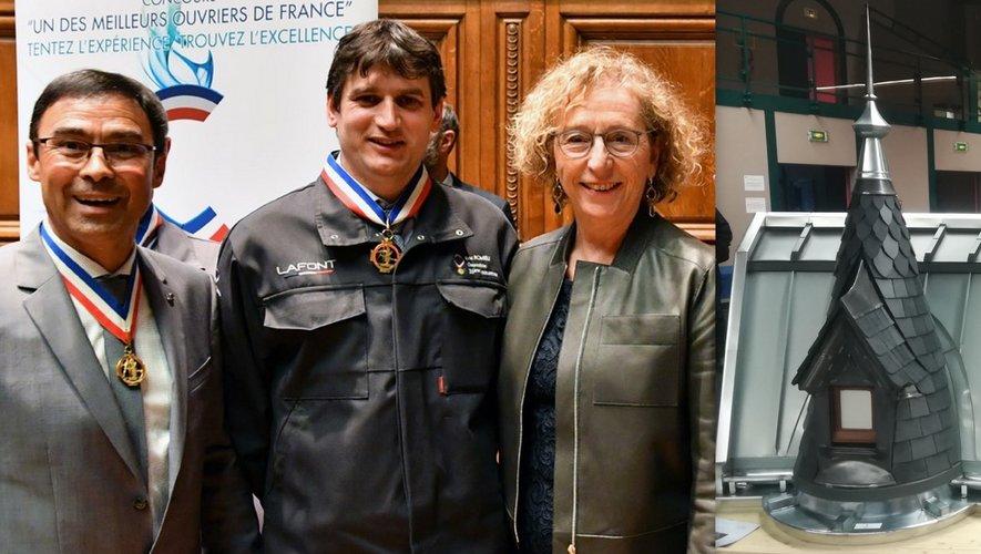 Éric Romieu récompensé par la ministre du Travail, Mme Pénicaud..