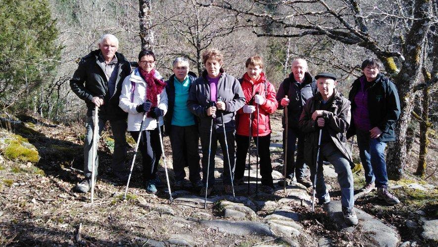 Un groupe des Seniors du Céor à la découverte des beautés de la vallée du Viaur