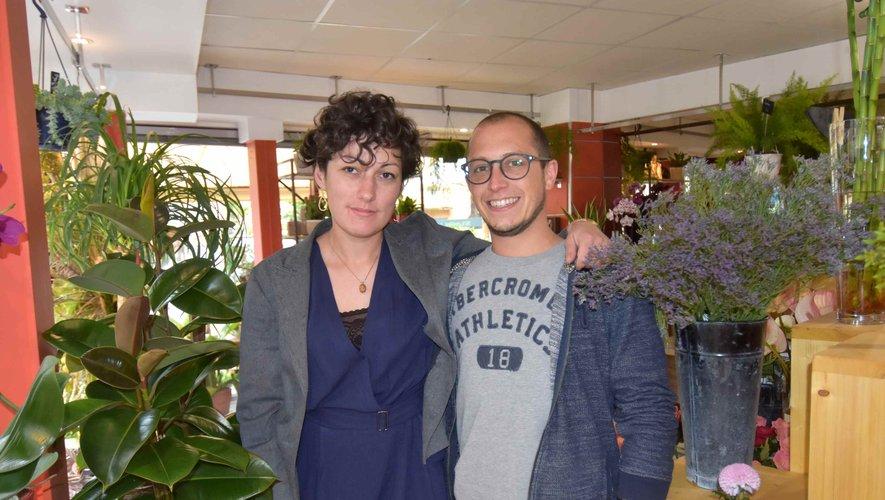 Céline Bernié et Hugo Beuvier dans leurs nouveau magasin au bois fleuri