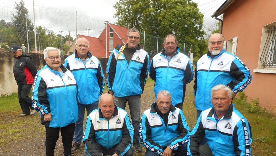 L'équipe de Rulhe-d'Auzits, troisième division, poule B.