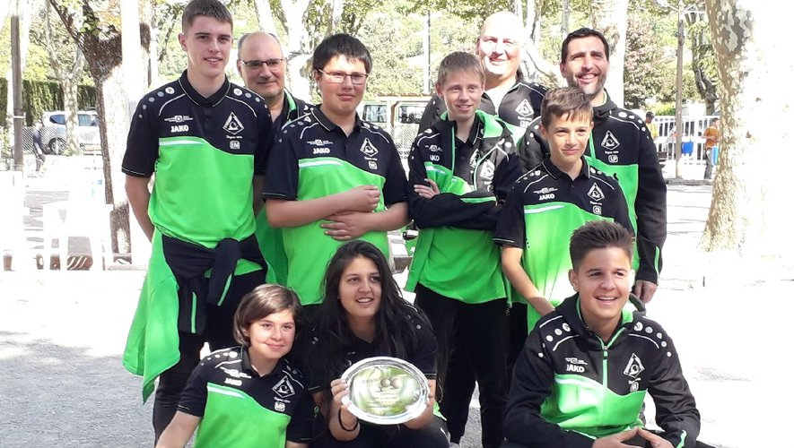 L'équipe cadets-juniors vice-championne d'Aveyron des clubs