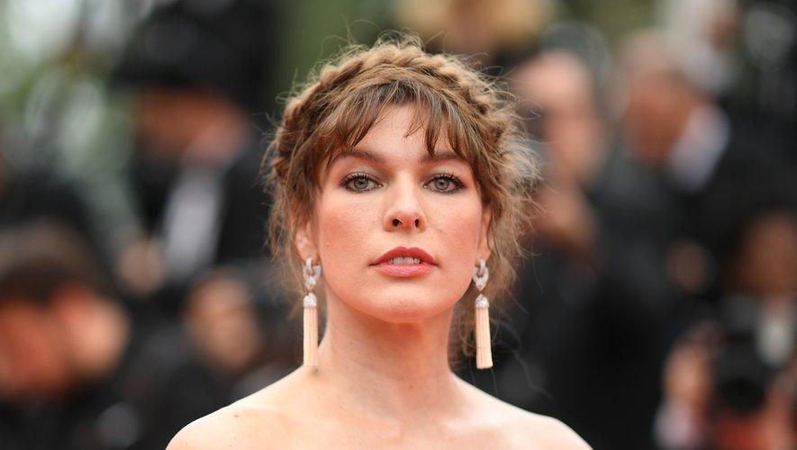 L'actrice américaine Milla Jovovich au Festival de Cannes, le 24 mai 2019