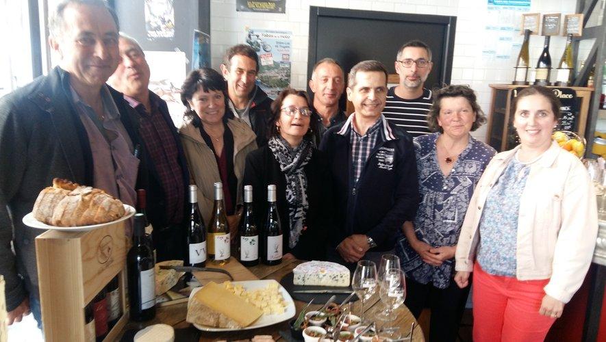 Les différents partenaireslors de la présentationde la 4e édition de Terr'Aveyron.