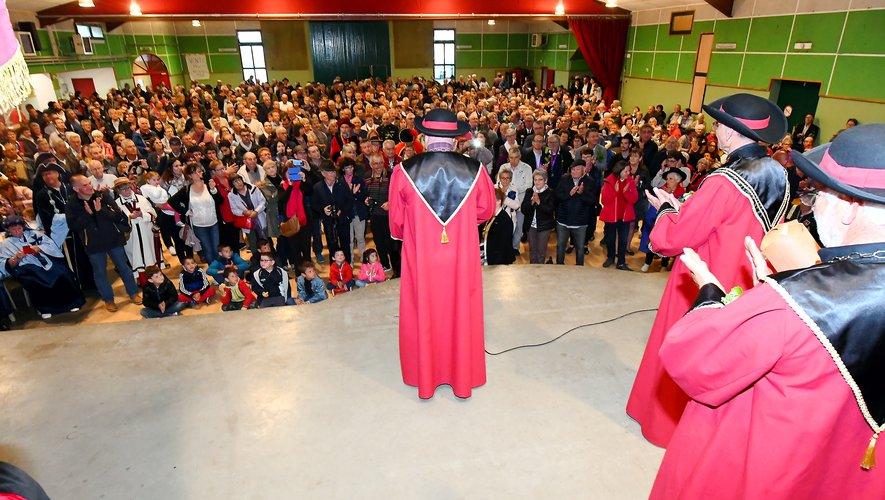 Cette année, la cérémonie d'intronisation s'est déroulée à la salle des fêtes de Marcillac.
