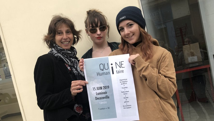 Natacha Clouzet, Noémie Panchèvre et Laura Clerc vous invitentà leur quine humanitaire./Photo MCB