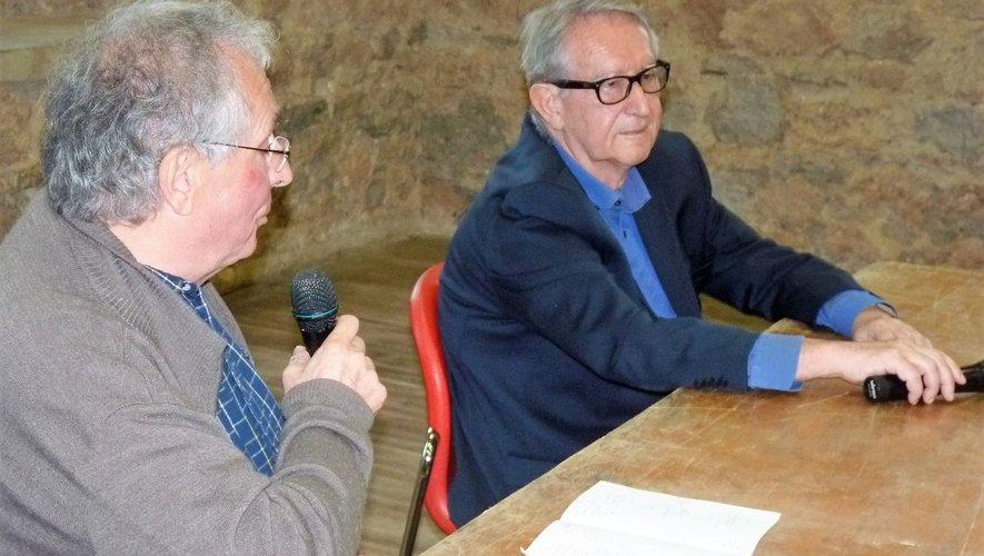 L'ancien journaliste, Yves Garric, a animé la soirée et questionné son confrère Jacques Molénat.