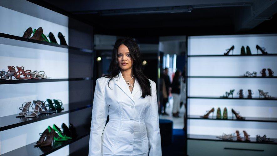 Rihanna lors d'un événement promotionnel pour sa marque Fenty à Paris.