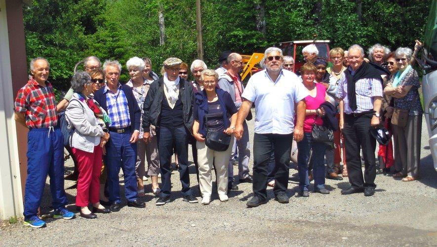 Après la visite du musée du battage à Murat-sur-Vèbre.