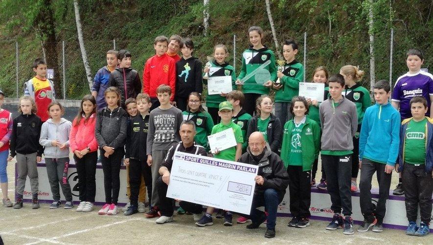 Les jeunes licenciés ayant participé au challenge.