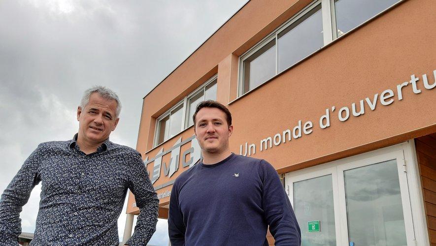 Thierry Devic et son fils, Nicolas qui vient d'intégrer l'entreprise