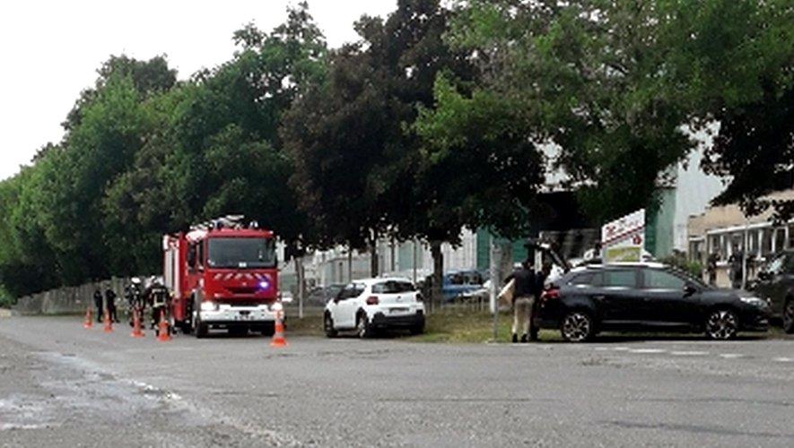 Les sapeurs pompiers ont rapidement circonscrit le début d'incendie.