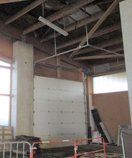 Le toit du quillodrome est abîmé