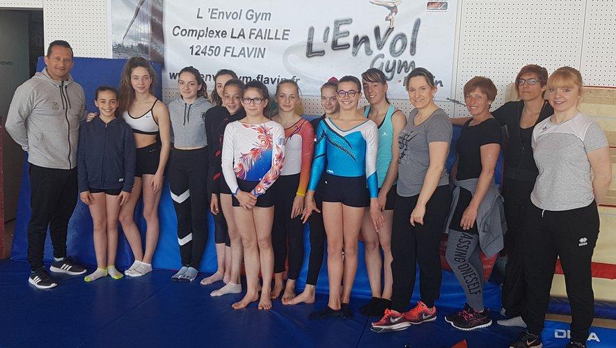 Les gymnastes ont porté hautles couleurs du club.