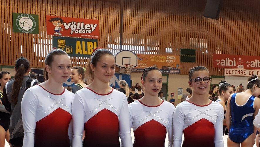 Zoé, Léa, Ninon, Cassandre ont terminé à une très belle 7e place.