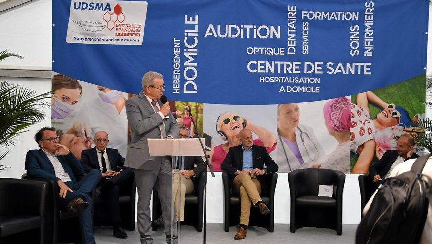 Claude Mouly, président de l'Udsma, aux côtés des partenaires publics.