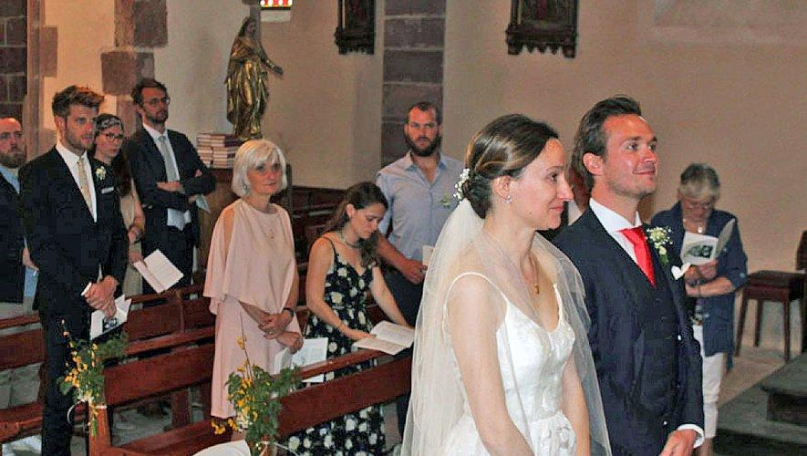 Lucie Ménard et Hugo Jeannesson avaient choisi l'église de St-Laurent d'OLt pour la cérémonie..