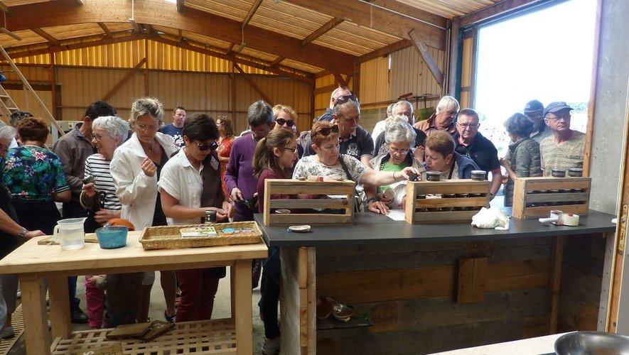 La visite d'un élevage d'ormeauxa été très appréciée.