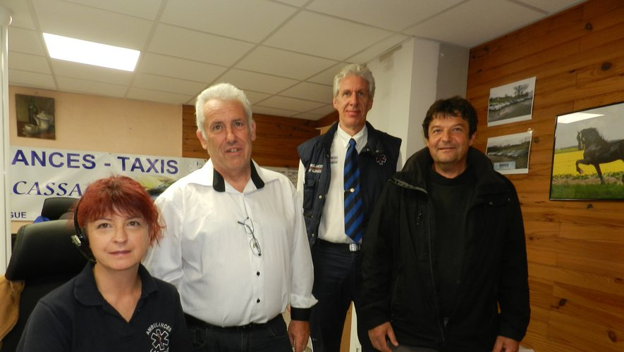 Laurence et Alain Lacassagne ont repris les entreprises de Thierry Sansonnet et de Stéphane Vabre (de gauche à droite).