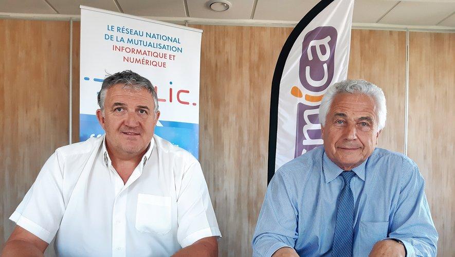 Jacques Barbezange et Jean-Louis Grimal, pas peu fiers d'organiser ces Rencontres nationales.