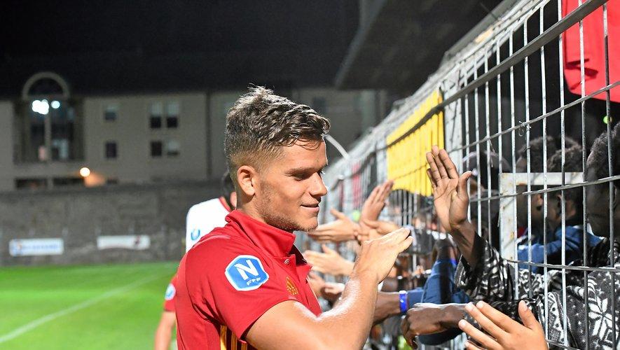 David Douline appartient bien au Rodez Aveyron football !