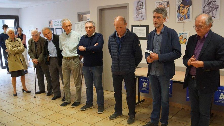 La famille de Raoul Cabrol et de Saoul présente lors de l'inauguration.