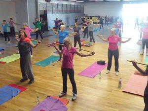 Les participantes au cours du lundi matin à l'Espace Antoine-de-Saint-Exupéry.