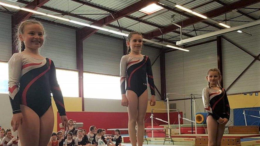Un beau podium: Emie, Mila et Ambre