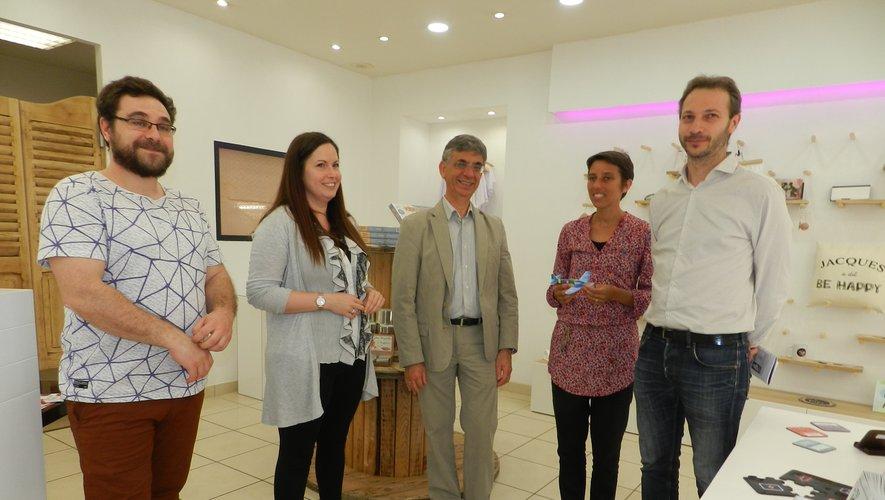 Julie Raffy et Guillaume sont les premiers à bénéficier du dispositifmis en place par la communauté de communes.